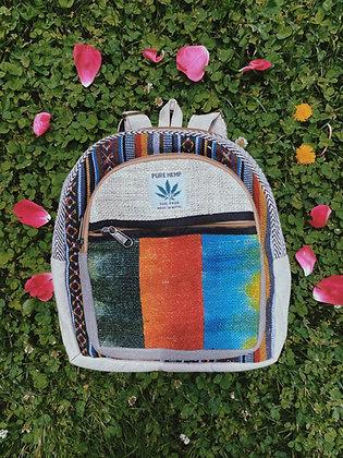 Petite Tie Dye Hemp Backpack