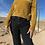 Thumbnail: Mustard Velvet Knit Sweater