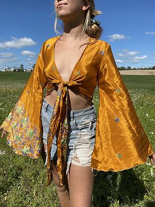 PLUS Recycled Silk Sari Top