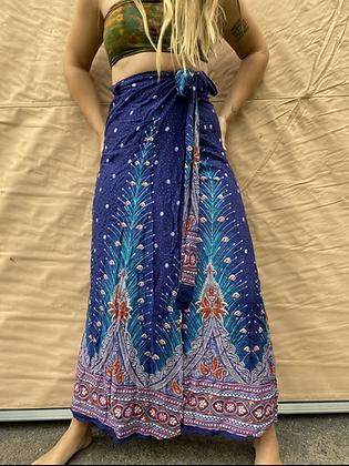 Peacock wrap skirt XS-4X