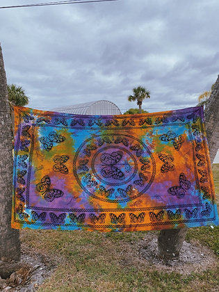 Indigo Dyed Butterfly Tapestry