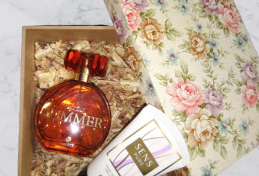 Fragrância Dazzle , Creme para as Mãos e Caixa Personalizada MDF