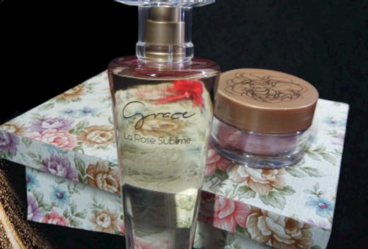 Grace La Rose Sublime , Serúm para as Mãos e Caixa Personalizada MDF