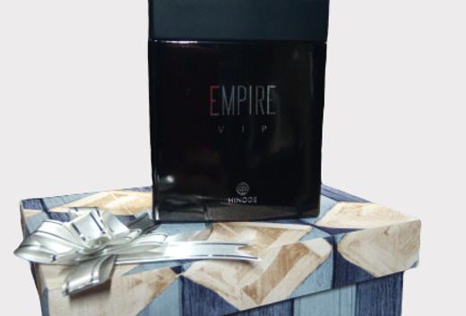 Fragrância Empire Vip e Caixa Personalizada MDF