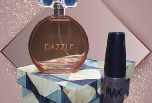 Fragrância Dazzle ,Máscara para Cílios e caixa Personalizada MDF