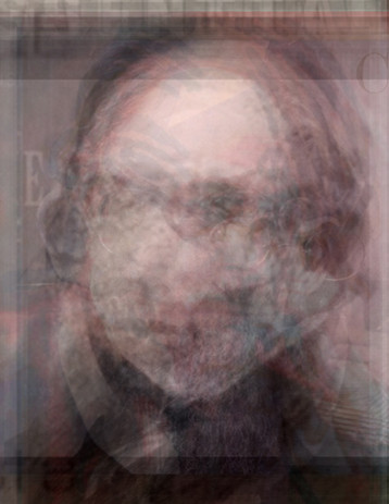 #302 Composite Portrait of Erik Satie using all available photographs of Satie from Google Image Search