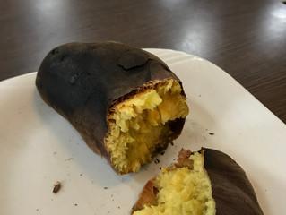 焼き芋🍠焼いてみました🔥