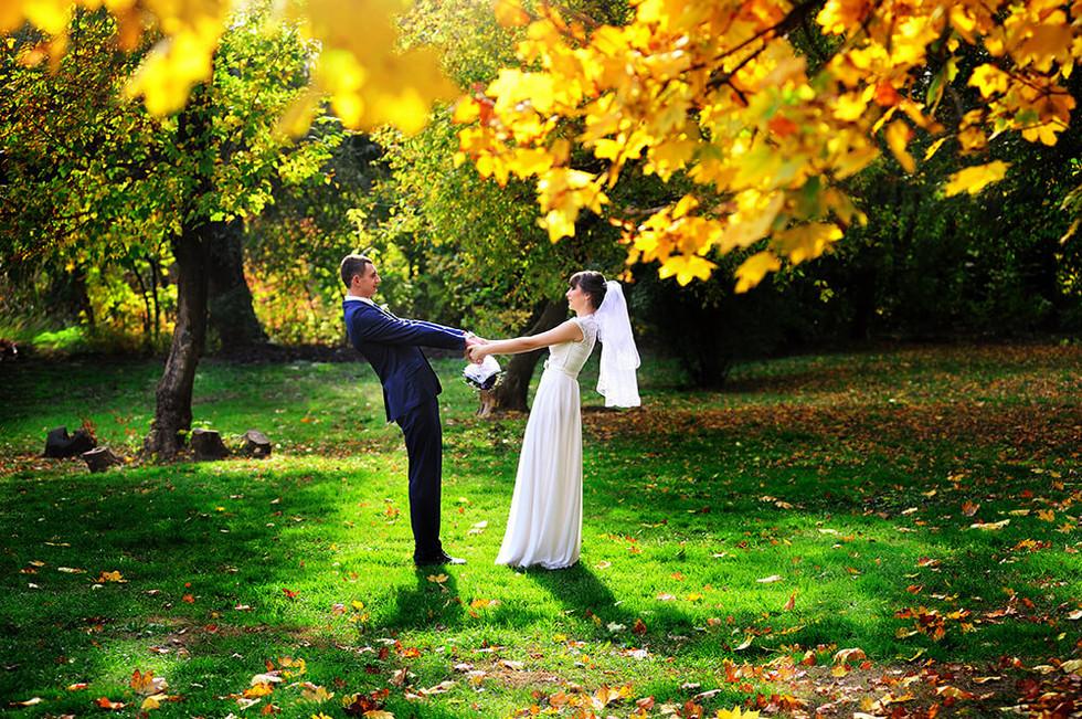 Фотосессия осенняя свадьба Ростов
