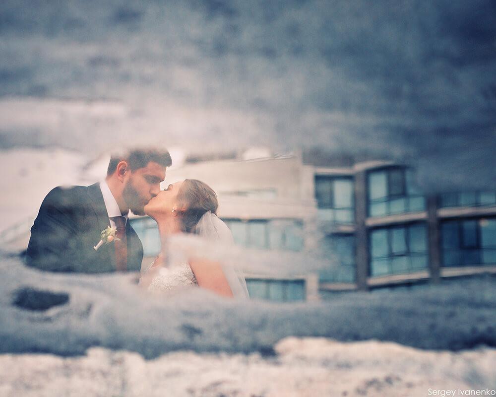 Стильное свадебное фото