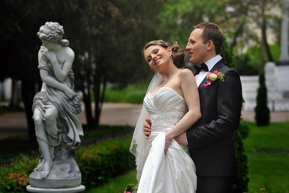 Свадебная фотография в парке Ростов