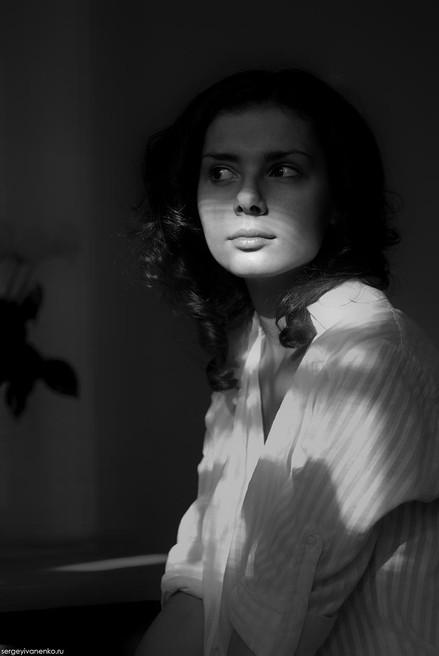 Черно-белый портрет, фотосессия Ростов