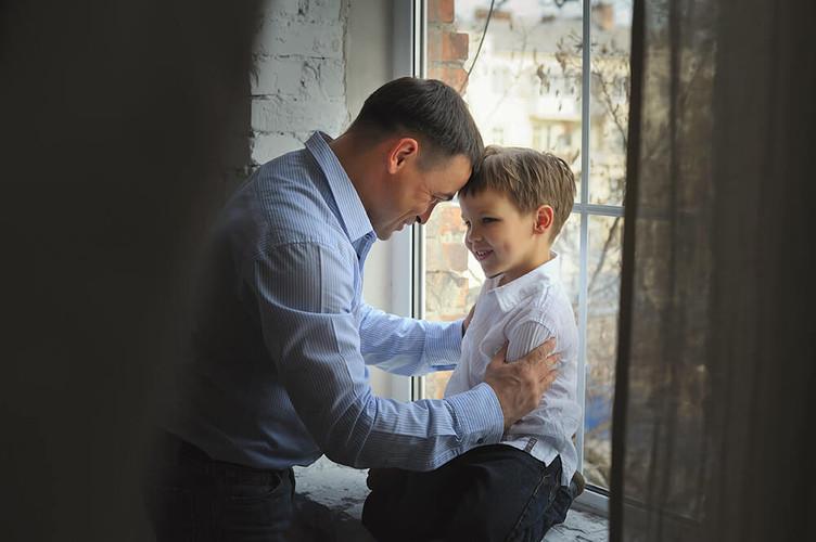 Фотосессиия отец и сын