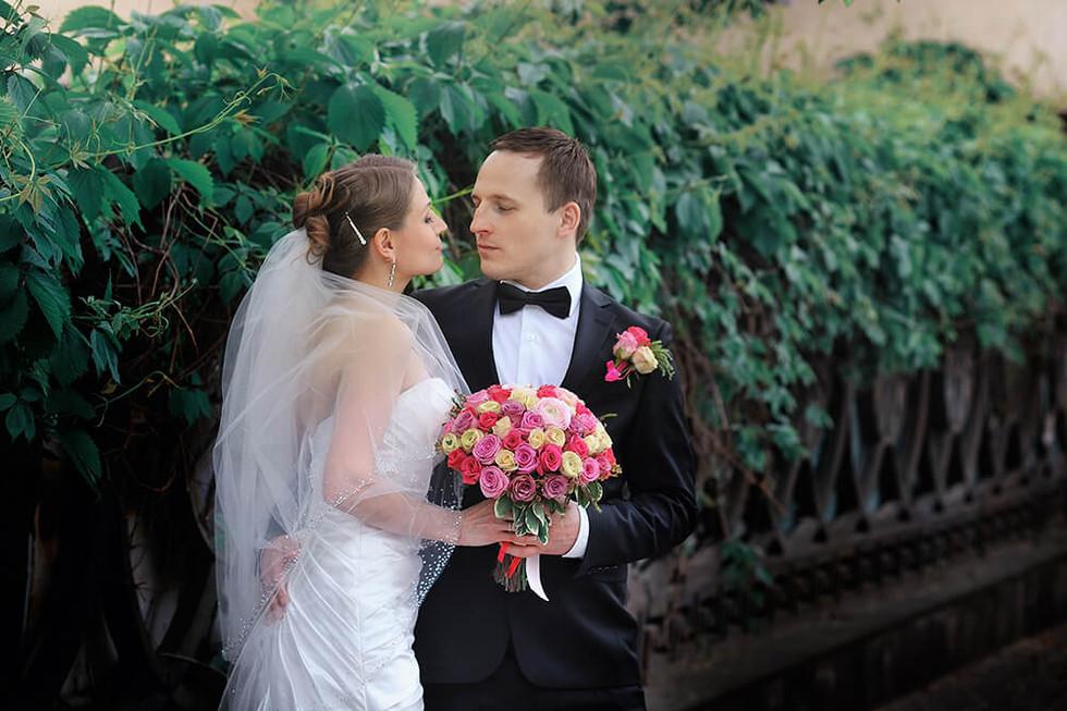 Свадебное фото с букетом невесты Ростов