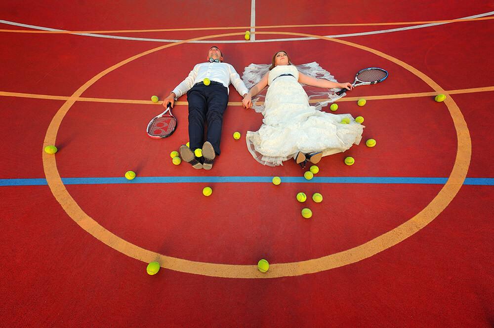 Свадьба на теннисном корте