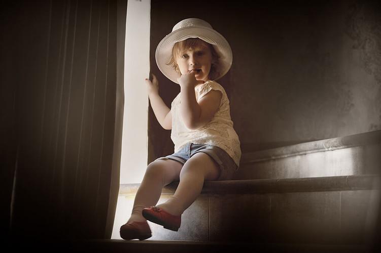 Детская фотосессиия в винтажном стиле