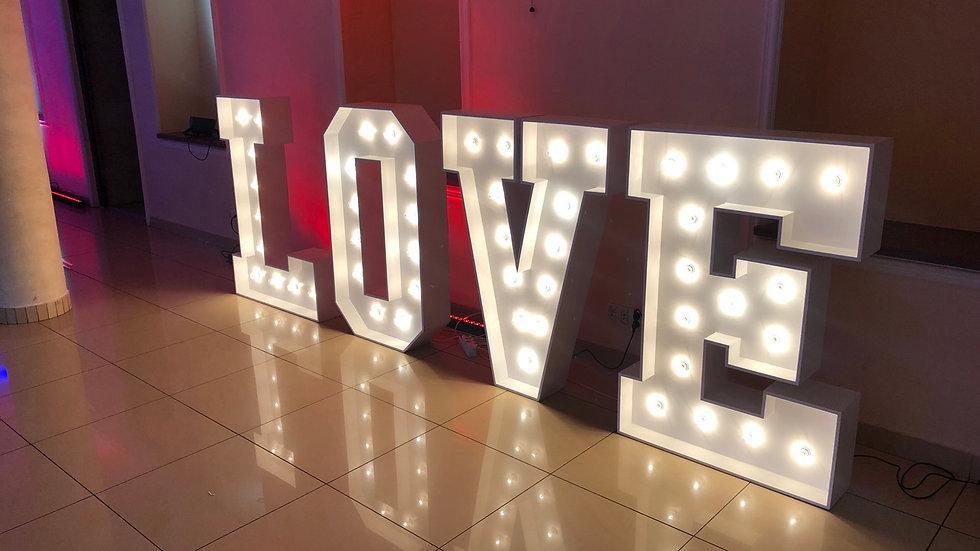 Napis LOVE 130 cm wysokości!