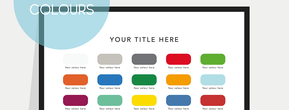 Personalised Paint Chart Poster / Print