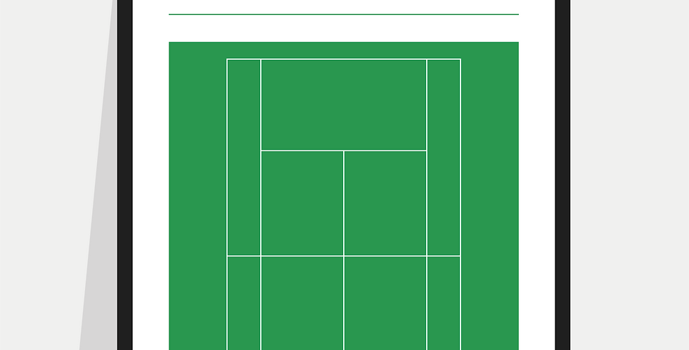 Tennis Definition Poster / Print - Green Court (Wimbledon)