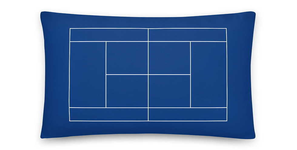 Tennis Court Pillow 20 inches x 12 inches - Blue