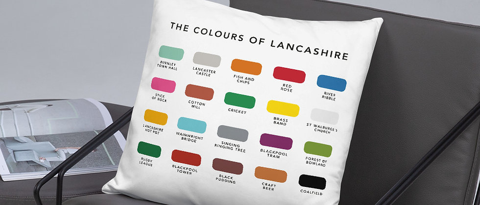 The Colours of Lancashire Cushion