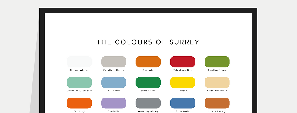 The Colours of Surrey Paint Chart Poster / Print