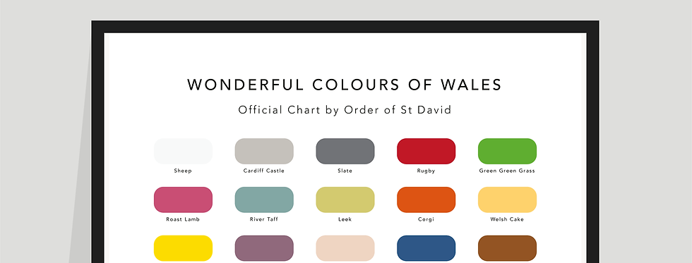 The Wonderful Colours of Wales Paint Chart Poster / Print