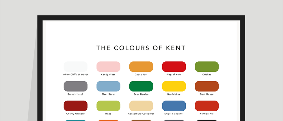 The Colours of Kent Paint Chart Poster / Print