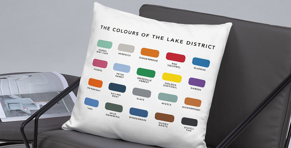 The Colours of The Lake District Cushion