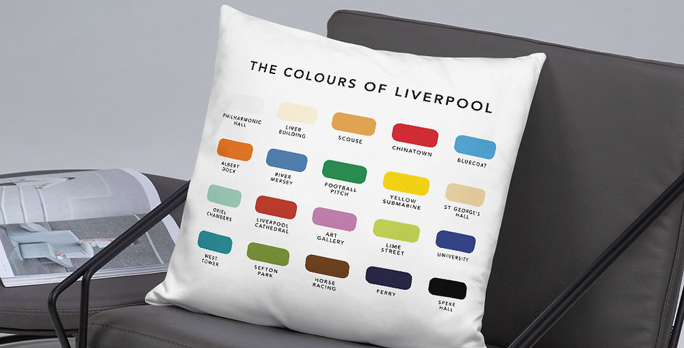 The Colours of Liverpool Cushion