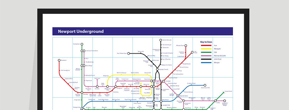 The Newport Underground Map - Poster