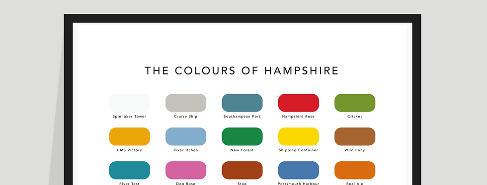 The Colours of Hampshire Paint Chart Poster / Print