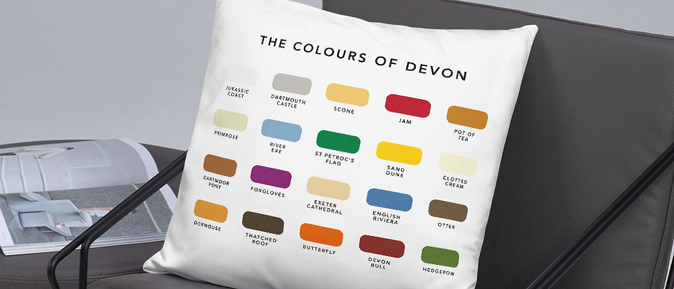 The Colours of Devon Cushion