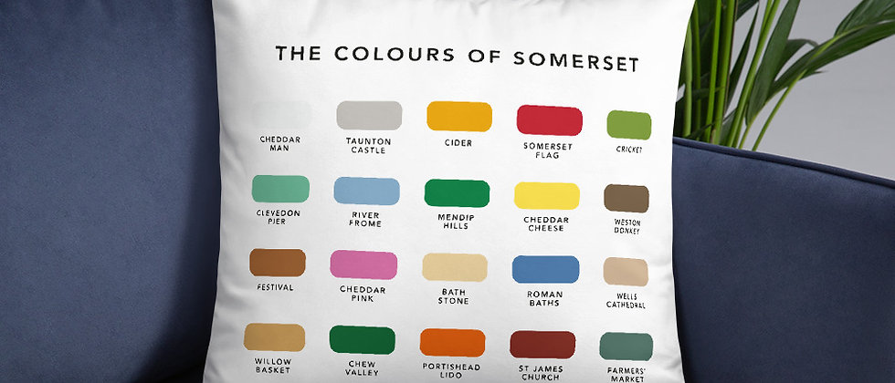 The Colours of Somerset Cushion