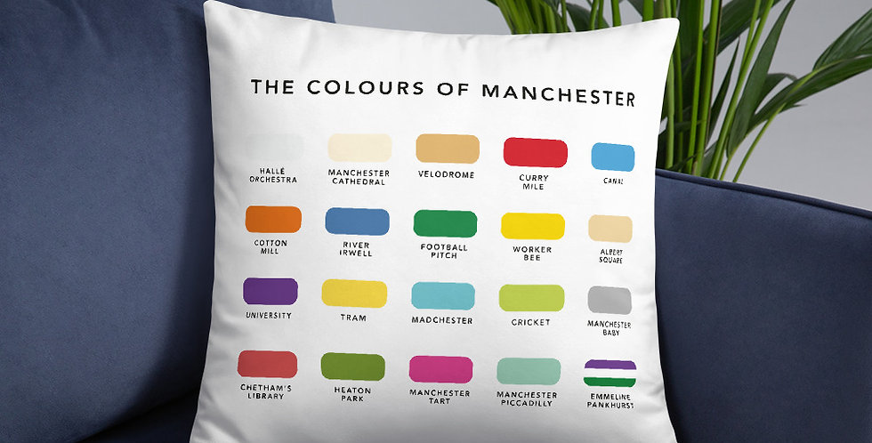 The Colours of Manchester Cushion