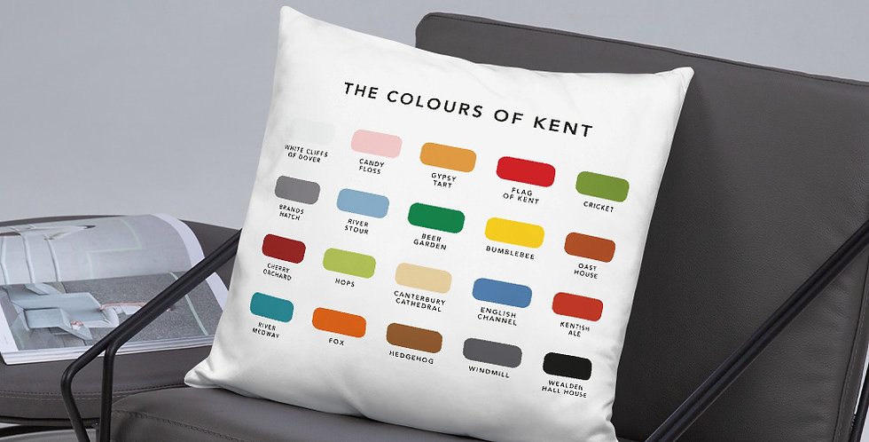 The Colours of Kent Cushion