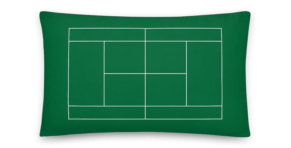 Tennis Court Pillow 20 inches x 12 inches - Green