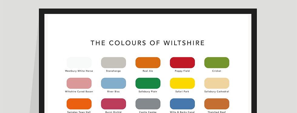 The Colours of Wiltshire Paint Chart Poster / Print