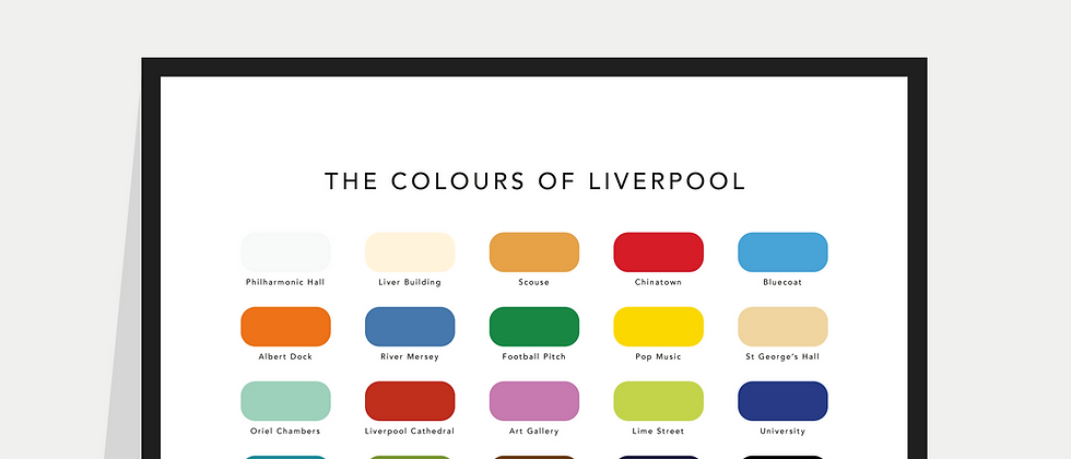 The Colours of Liverpool Paint Chart Poster / Print