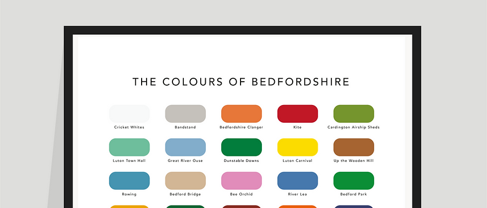 The Colours of Bedfordshire Paint Chart Poster / Print
