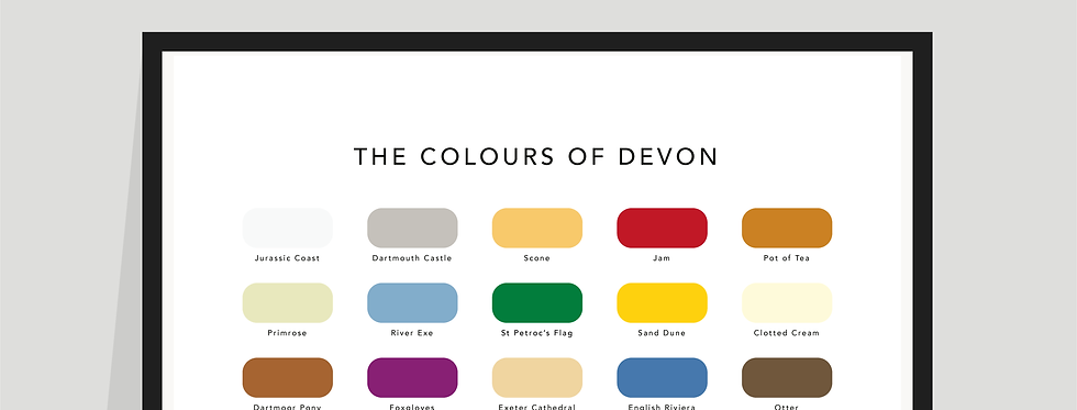 The Colours of Devon Paint Chart Poster / Print