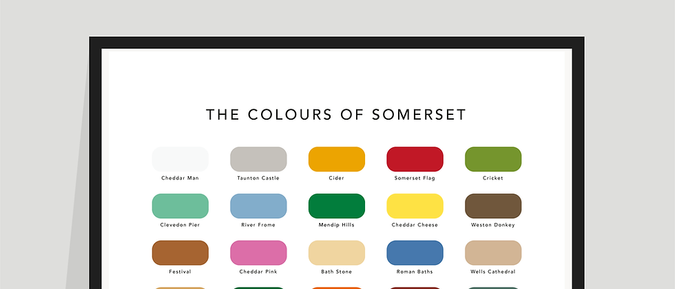 The Colours of Somerset Paint Chart Poster / Print