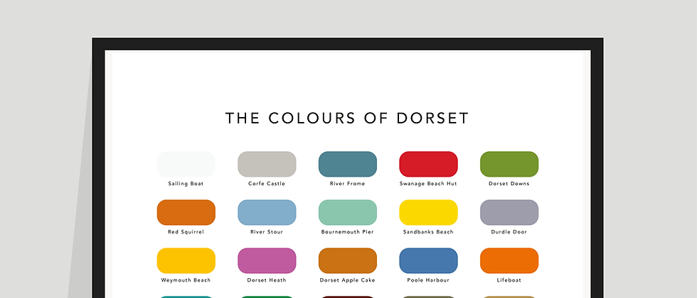 The Colours of Dorset Paint Chart Poster / Print