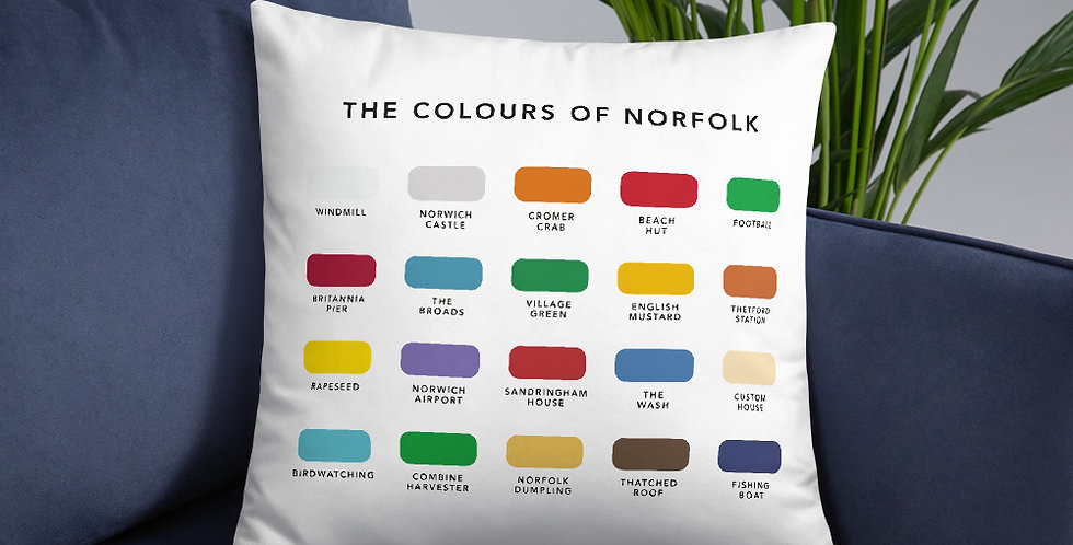 The Colours of Norfolk Cushion