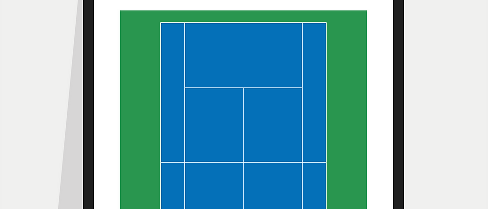 Tennis Definition Poster / Print - Blue & Green Court (US Open)