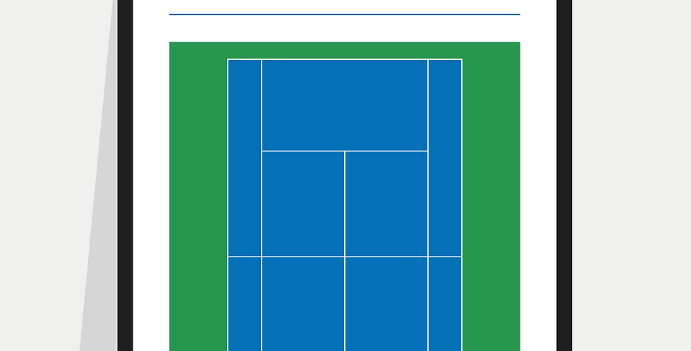 Tennis Definition Poster / Print - Blue & Green Court (US Open)