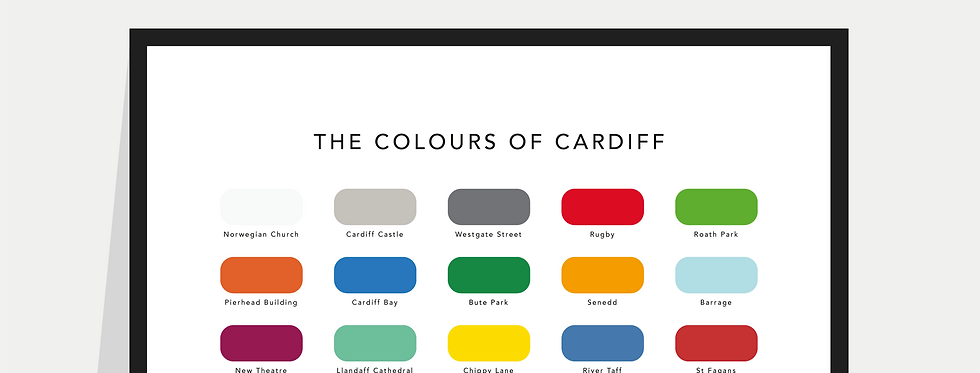 The Colours of Cardiff Paint Chart Poster / Print