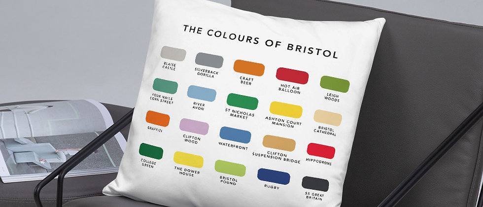 The Colours of Bristol Cushion