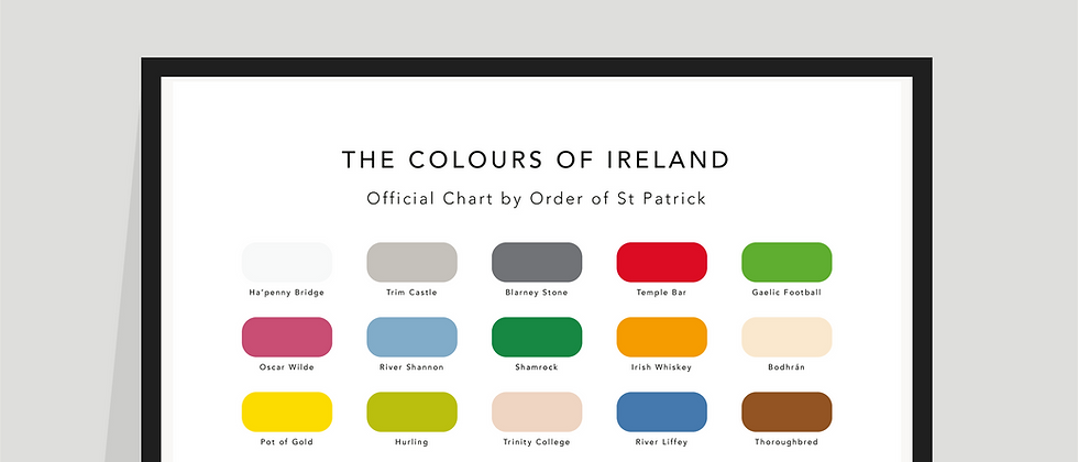 The Colours of Ireland Paint Chart Poster / Print