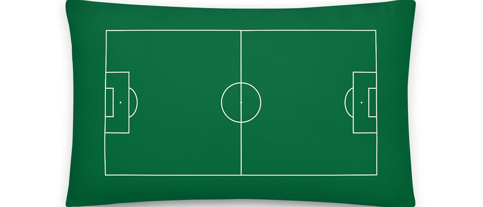 Football Pitch Pillow 20 inches x 12 inches