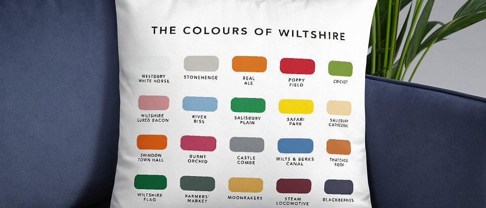 The Colours of Wiltshire Cushion
